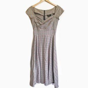 Stop Staring Retro Pinup Dress Checker Rockabilly